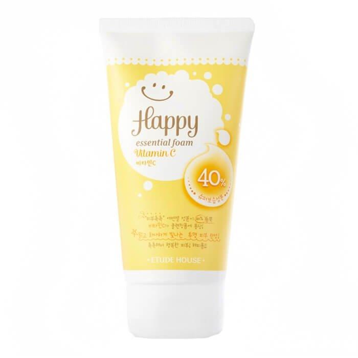 Пенка для умывания Etude House Happy Essential Cleansing Foam - Vitamin C