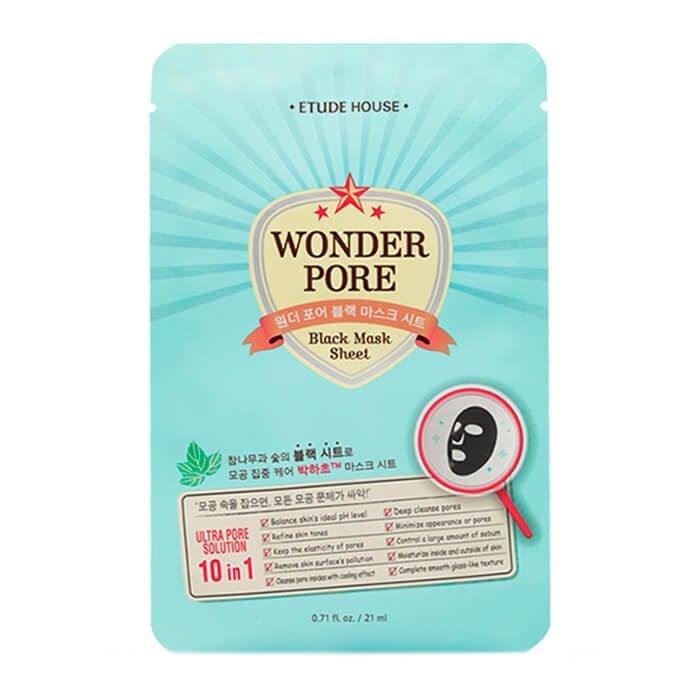 Тканевая маска Etude House Wonder Pore Black Mask Sheet