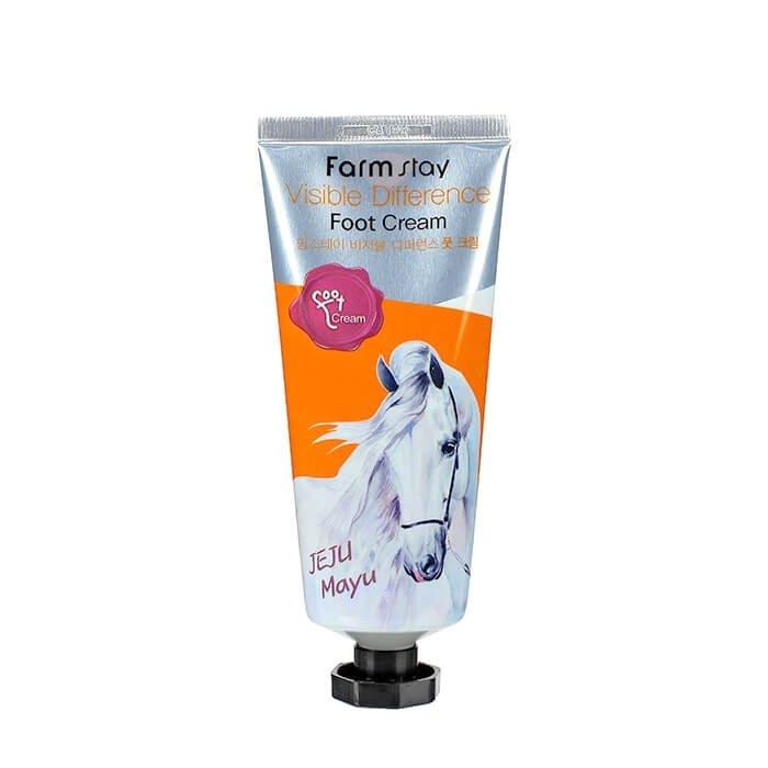 Крем для ног FarmStay Visible Difference Foot Cream Jeju Mayu