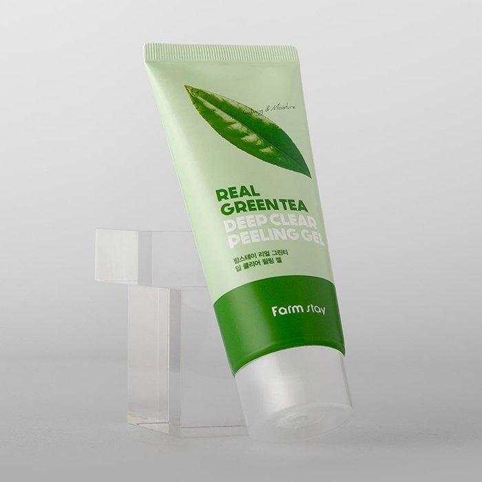 Пилинг-скатка для лица FarmStay Real Green Tea Deep Clear Peeling Gel – купить в Москве | Интернет-магазин SIFO