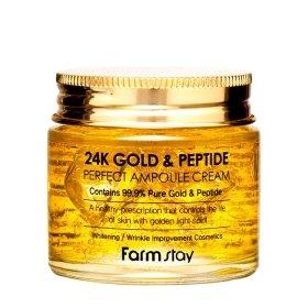 Крем для лица FarmStay 24K Gold & Peptide Perfect Ampoule Cream