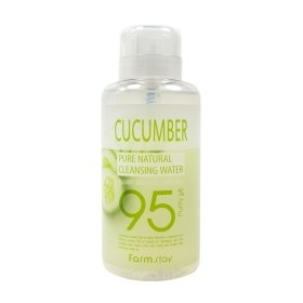 Очищающая вода FarmStay Pure Natural Cleansing Water Cucumber