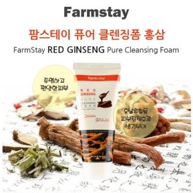 Пенка для лица FarmStay Red Ginseng Pure Cleansing Foam