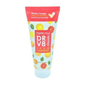 Пенка для умывания FarmStay DR-V8 Vitamin Foam Cleansing