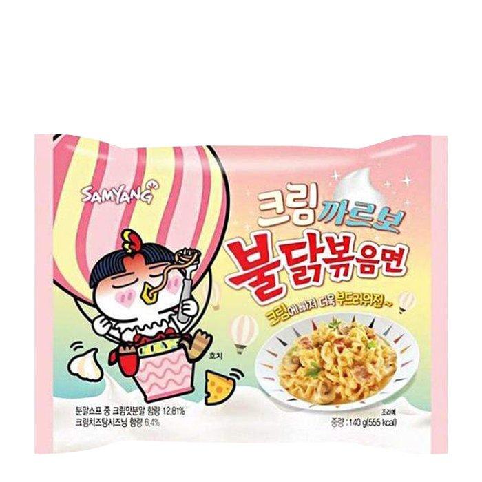 Лапша быстрого приготовления Samyang Hot Chicken Flavor Ramen Cream Carbonara (140 г)