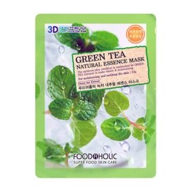 3D Маска для лица FoodaHolic Green Tea Natural Essence 3D Mask
