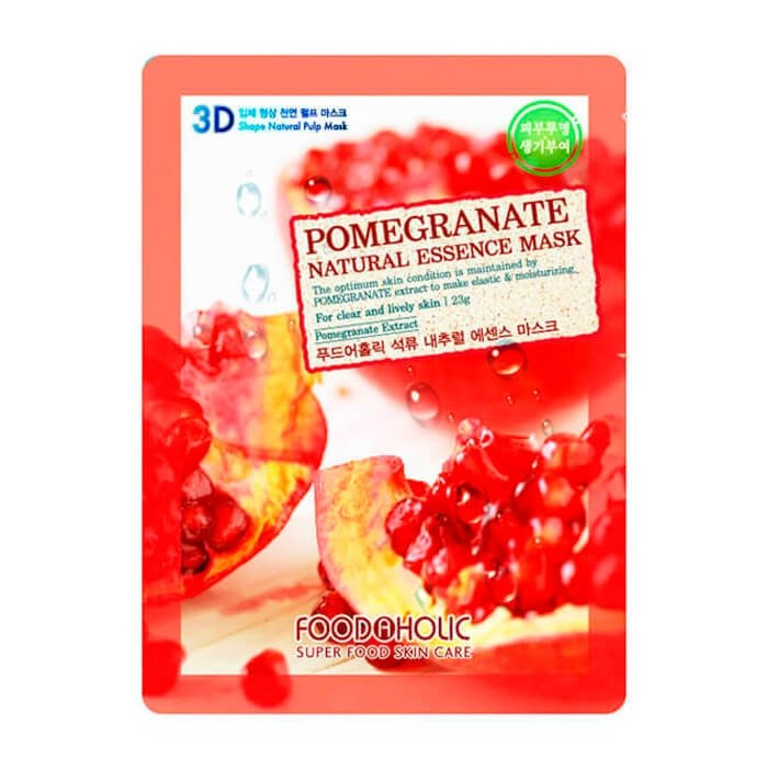 3D Маска для лица FoodaHolic Pomegranate Natural Essence 3D Mask