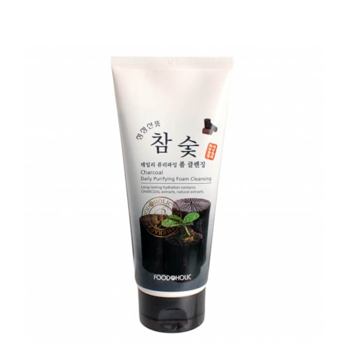 Очищающая пенка FoodaHolic Charcoal Daily Purifying Foam Cleansing