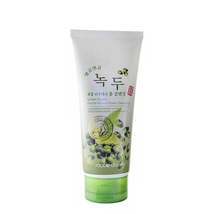 Очищающая пенка FoodaHolic Green Gram Gentle Refresh Foam Cleansing