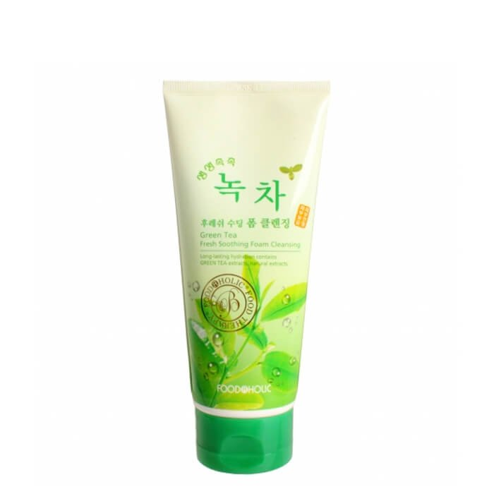 Очищающая пенка FoodaHolic Green Tea Fresh Soothing Foam Cleansing