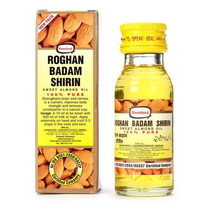 Масло сладкого миндаля Hamdard Roghan Badam Shirin (25 мл)