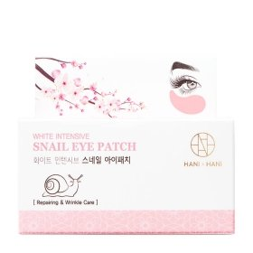 Патчи для век HANIxHANI White Intensive Snail Eye Patch