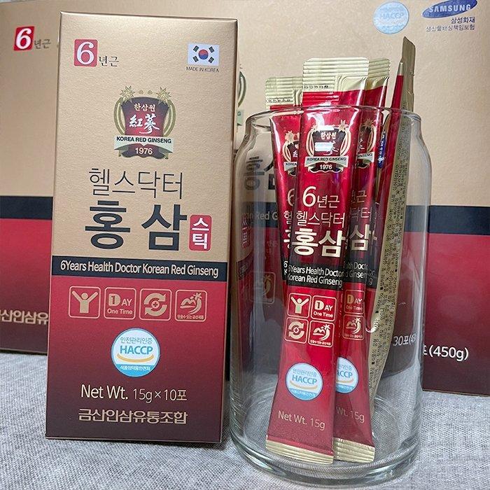 Женьшень питьевой в стиках Health Doctor 6-year old Health Doctor Korean Red Ginseng (30 стиков)