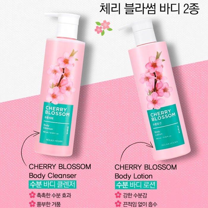 Гель для душа Holika Holika Cherry Blossom Body Cleanser
