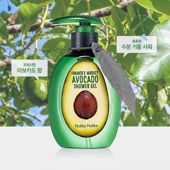 Гель для душа Holika Holika Farmer's Market Avocado Shower Gel