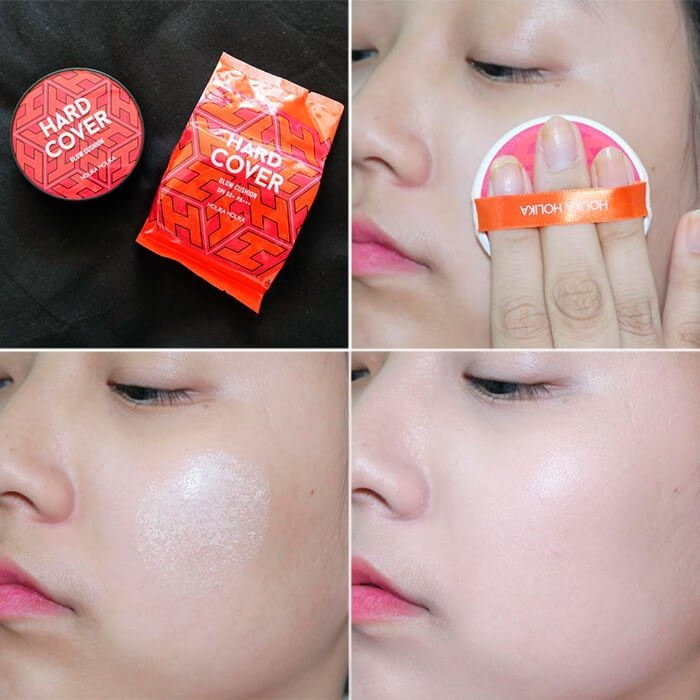 Кушон для лица Holika Holika Hard Cover Glow Cushion Set (New Year Special)