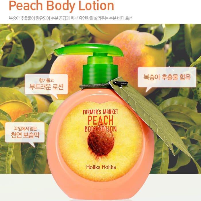 Лосьон для тела Holika Holika Farmer's Market Peach Body Lotion
