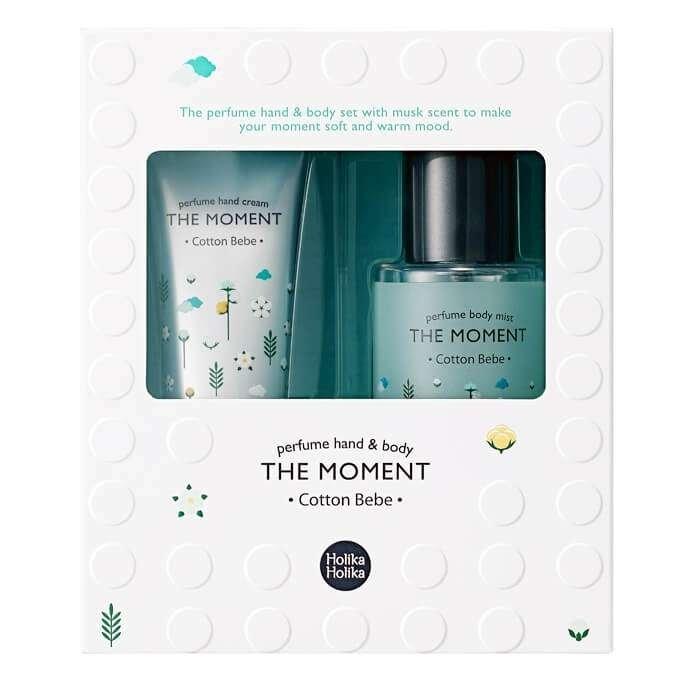 Набор для рук и тела Holika Holika The Moment Perfume Hand & Body Set Mist - Cotton Bebe