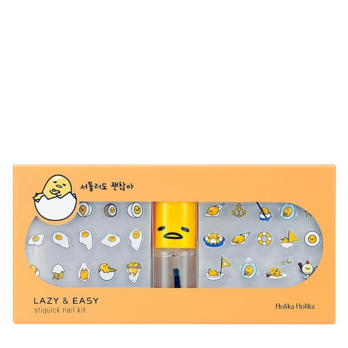 Наклейки для маникюра Holika Holika Gudetama Lazy & Easy Sti-Quick Nail Kit
