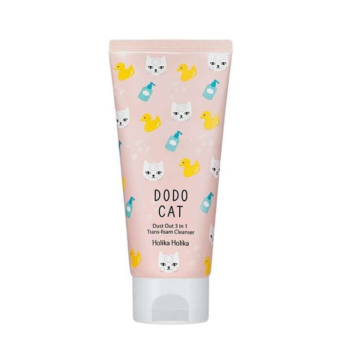 Очищающая пенка Holika Holika Dust Out DODO Cat 3 in 1 Trans Foam Cleanser