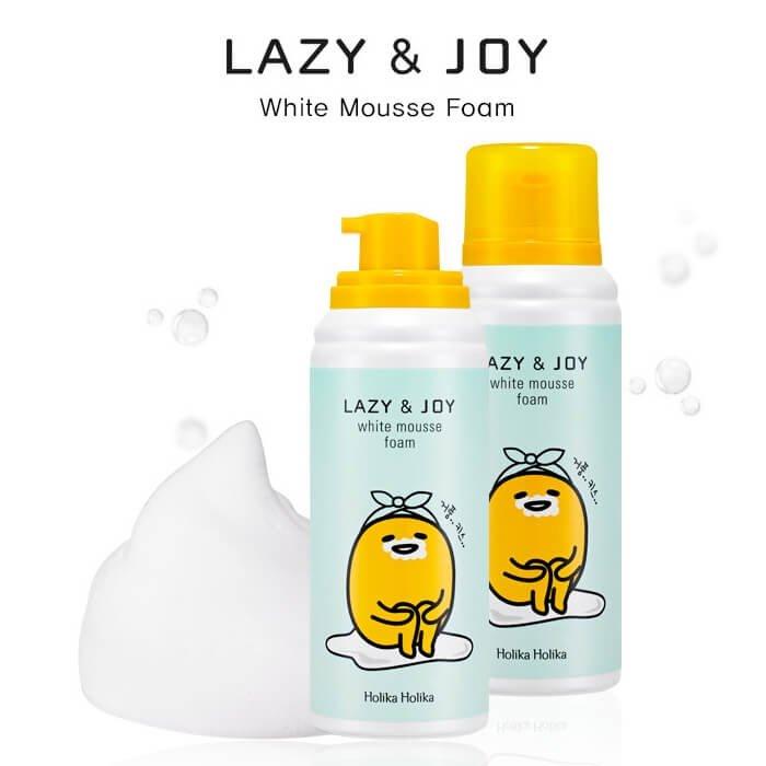 Очищающая пенка Holika Holika Gudetama Lazy & Joy White Mousse Foam