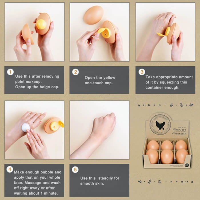 Очищающая пенка Holika Holika Smooth Egg Skin Cleansing Foam