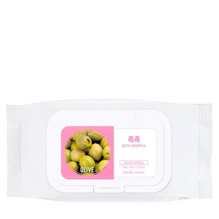 Очищающие салфетки Holika Holika Daily Fresh Olive Cleansing Tissue