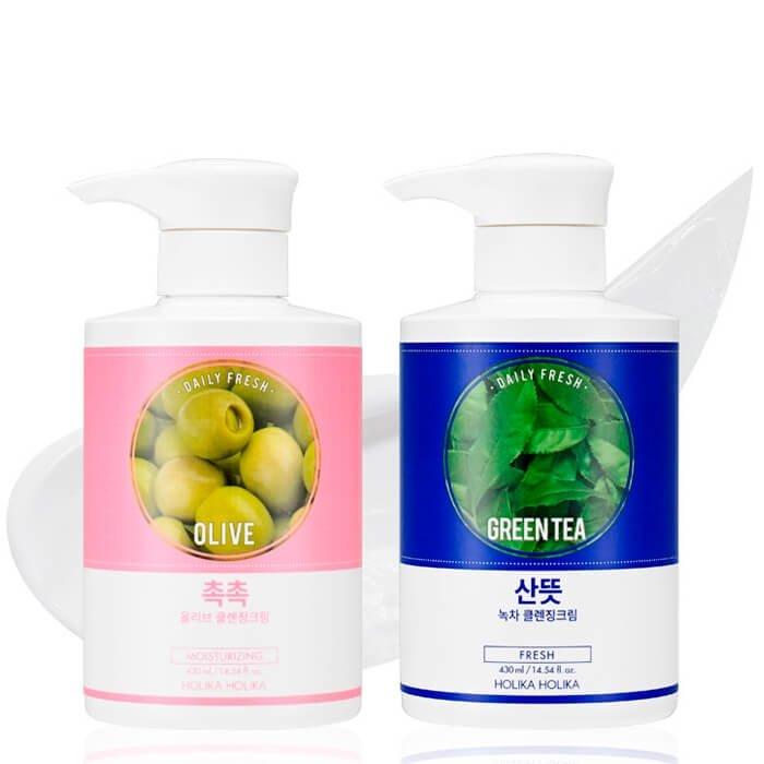 Очищающий крем Holika Holika Daily Fresh Green Tea Cleansing Cream