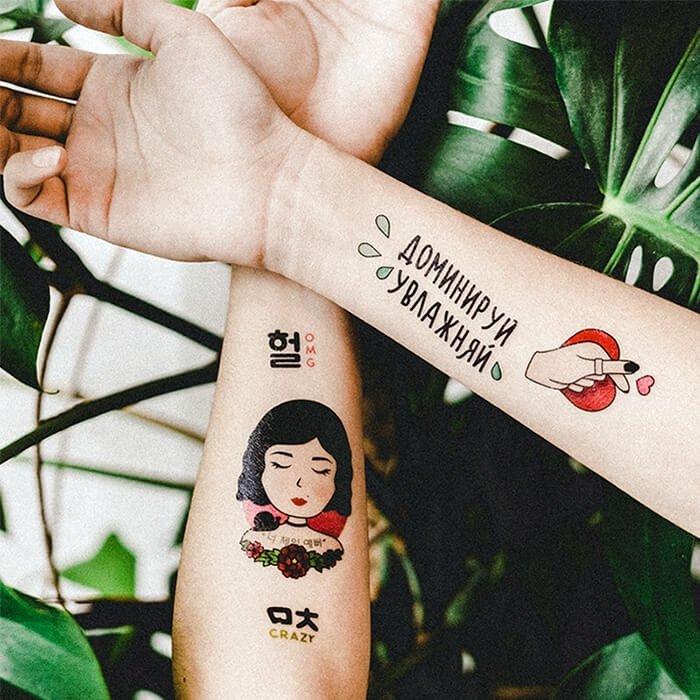 Переводные тату Miami Tattoos Holika Holika & It's Skin