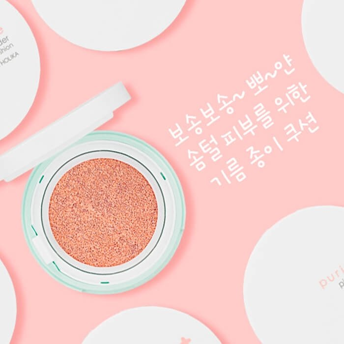 Пудра-кушон Holika Holika Puri Pore Pink Powder Cushion