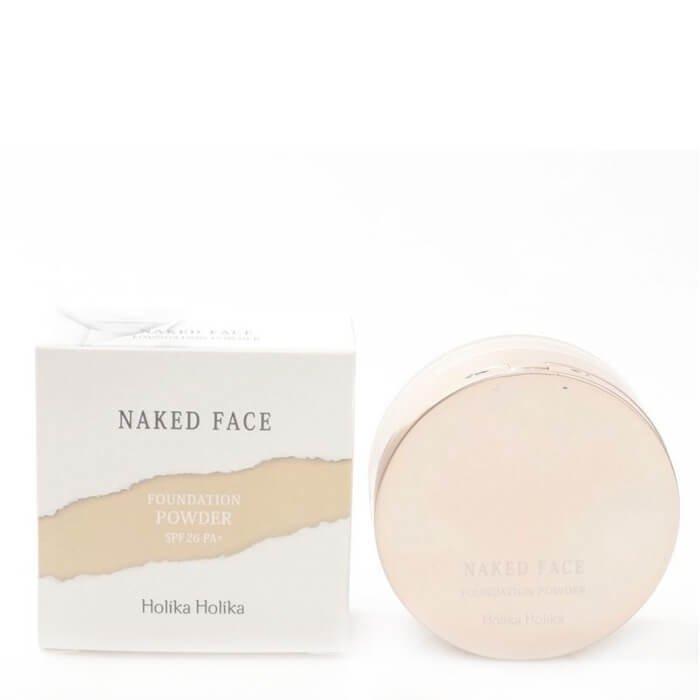 Рассыпчатая пудра Holika Holika Naked Face Foundation Powder