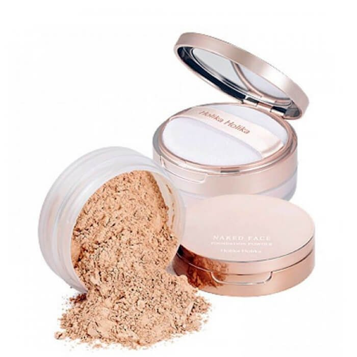 Рассыпчатая пудра Holika Holika Naked Face Foundation Powder