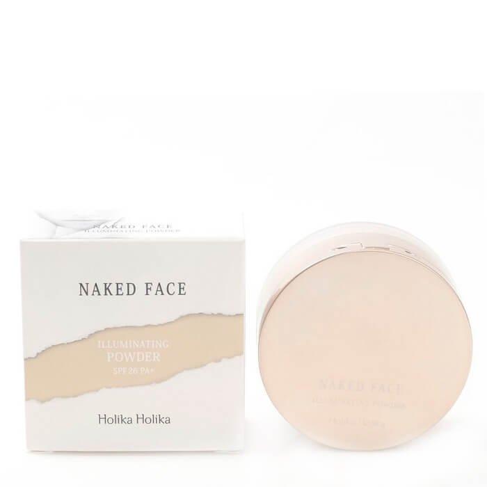 Рассыпчатая пудра Holika Holika Naked Face Illuminating Powder