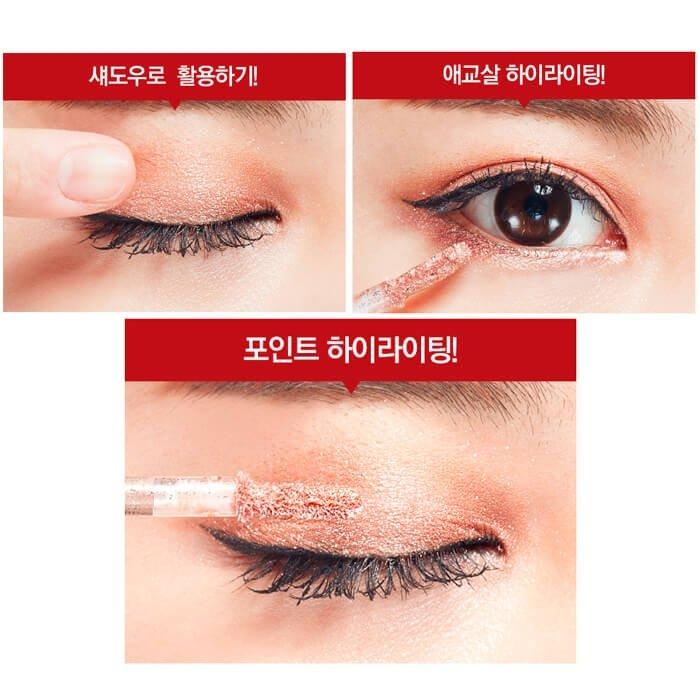 Тени для глаз Holika Holika Red Lies Eye Metal Glitter