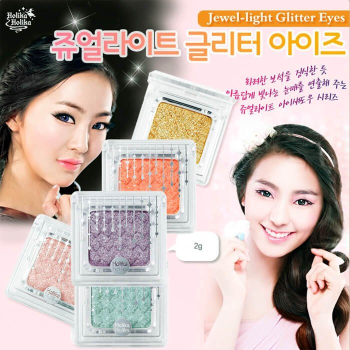 Тени для век Holika Holika Jewel-light Glitter Eyes