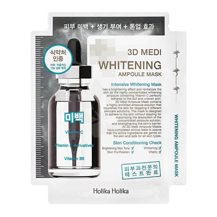 Тканевая маска Holika Holika 3D Medi Whitening Ampoule Mask