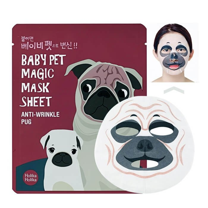 Тканевая маска Holika Holika Baby Pet Magic Mask Sheet - Anti-Wrinkle Pug