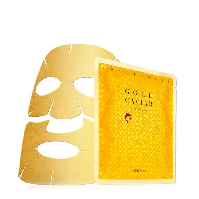 Тканевая маска Holika Holika Prime Youth Gold Caviar Gold Foil Mask