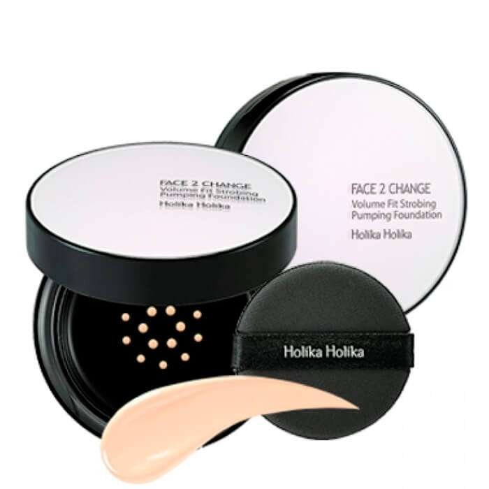 Тональная основа Holika Holika Face 2 Change Volume Fit Strobing Pumping Foundation