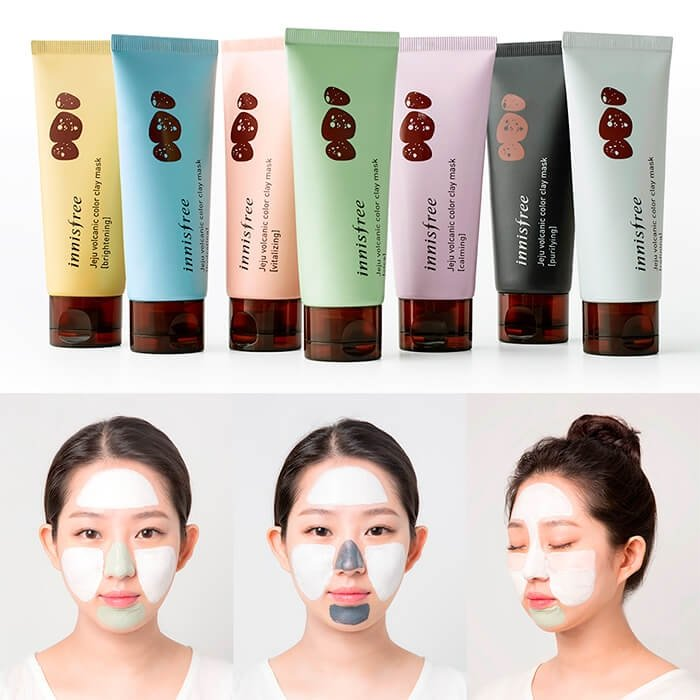 Цветная маска Innisfree Jeju Volcanic Color Clay Mask