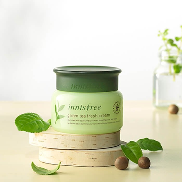 Крем для лица Innisfree Green Tea Fresh Cream