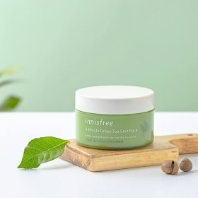 Маска для лица Innisfree 3-Minute Green Tea Skin Pack