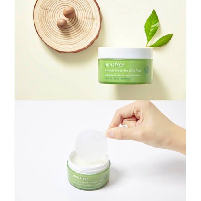 Маска для лица Innisfree 3-Minute Green Tea Skin Pack