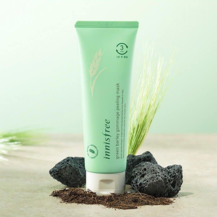 Маска-пилинг для лица Innisfree Green Barley Gommage Peeling Mask