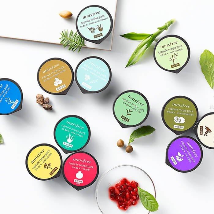 Ночная маска Innisfree Capsule Recipe Night Pack - Green Tea