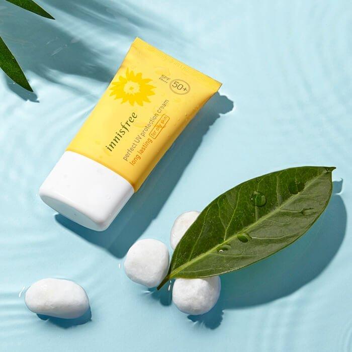 Солнцезащитный крем Innisfree Perfect UV Protection Cream Long Lasting For Oily Skin