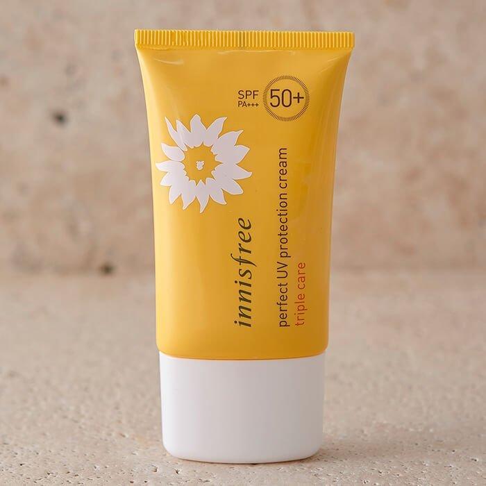 Солнцезащитный крем Innisfree Perfect UV Protection Cream Triple Care