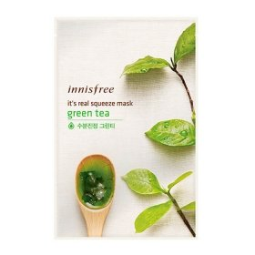 Тканевая маска Innisfree It's Real Squeeze Mask - Green Tea