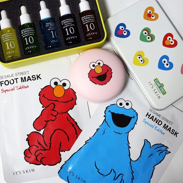 Маска для ног It's Skin Sesame Street Foot Mask Special Edition