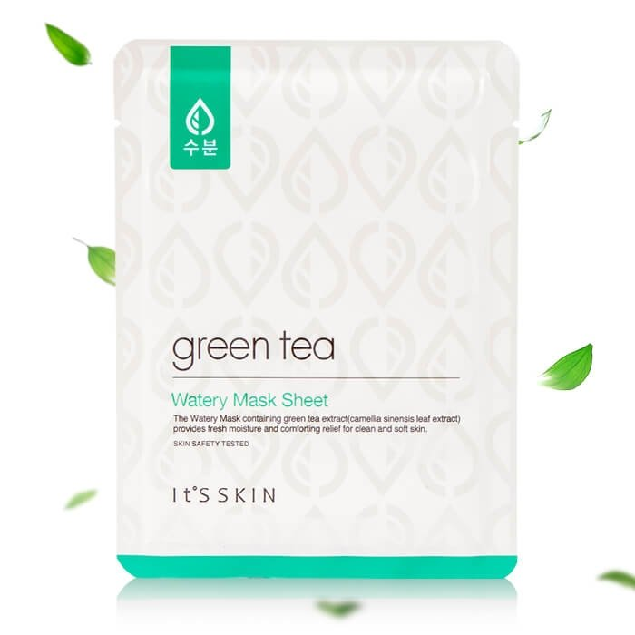 Тканевая маска It's Skin Green Tea Watery Mask Sheet